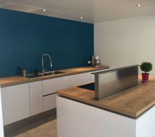 photos et idees cuisine mur bleu 686