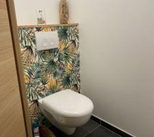photos et idees wc mur papier peint