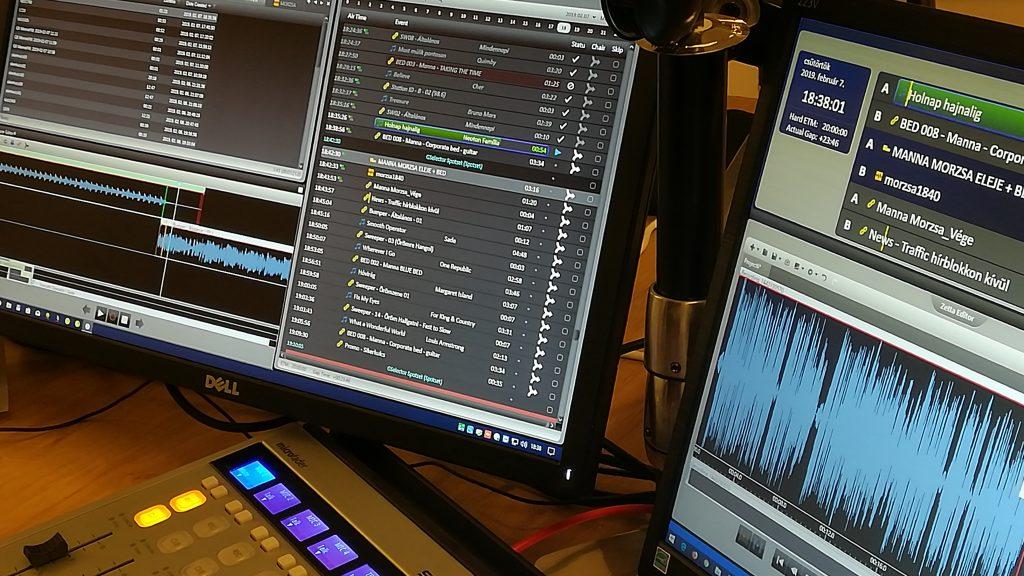 A Manna FM adáslebonyolító rendszere. Fotó: Szalay Dániel, Media1
