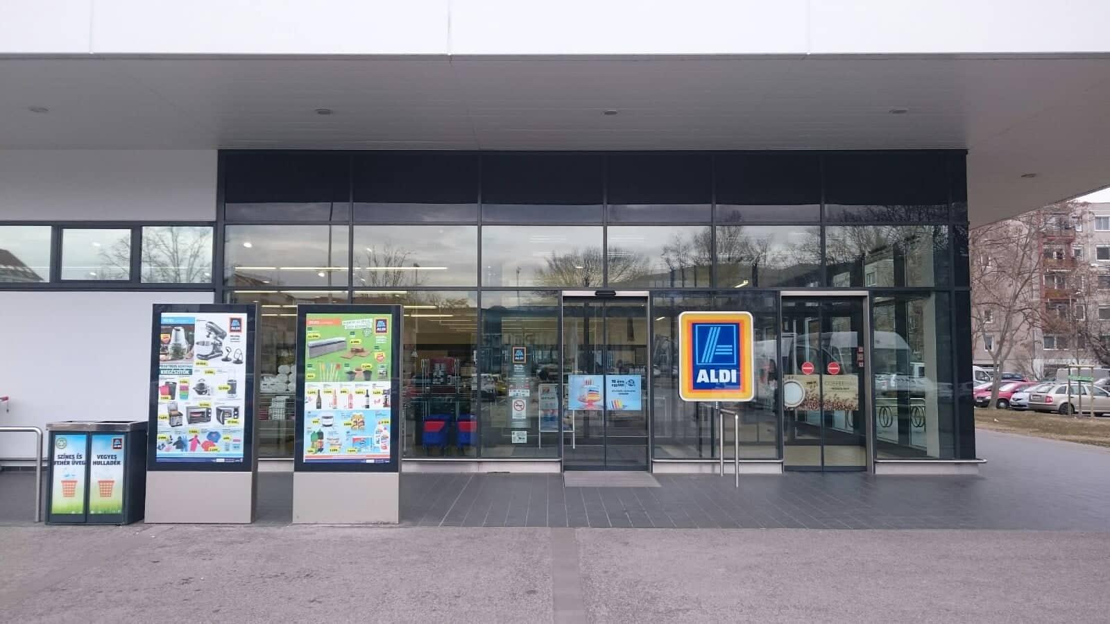 ALDI bolt bejárata Budapesten. Fotó: Ladányi András, Media1