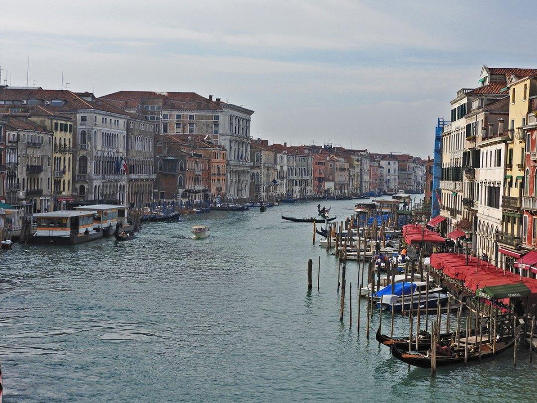 view from Rialto bridge Venezia