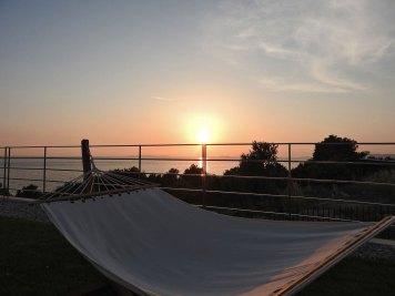 zalazak sunca iz ležaljke