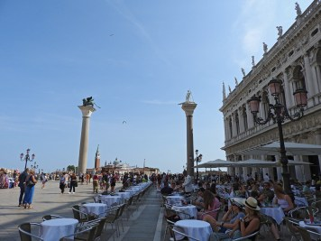 Columns-on piazza St. Marco Venice