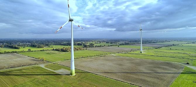 Temabild för Klimat och Miljö. Vindkraft är en del av lösningen på klimatkrisen.