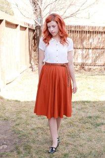 skirt, vintage, 50s, modcloth