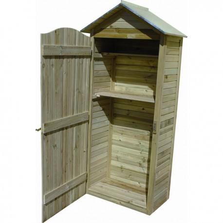 grande armoire de rangement jardin en bois traitee autoclave avec plancher
