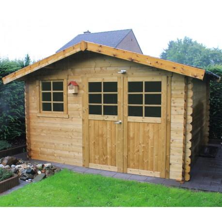 abri de jardin en bois traite autoclave 28mm chimay porte double 10 67m solid