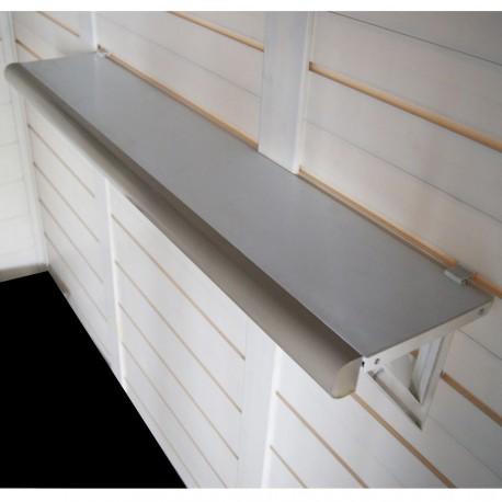 kit de 2 etageres pour abris de jardin en resine evo de garofalo