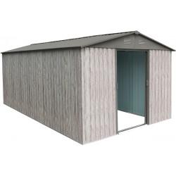 abri de jardin metal 11m woodtouch beige kit d ancrage x metal