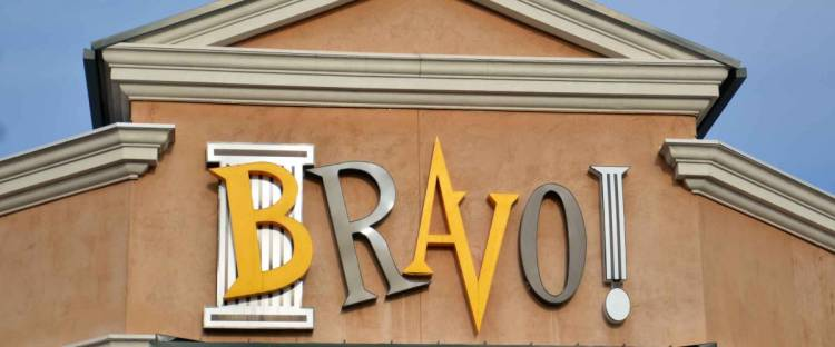 DEARBORN, MI - DECEMBER 21:  Bravo!, whose Fairlane Mall store logo is shown on December 21, 2014, has about 90 restaurants.