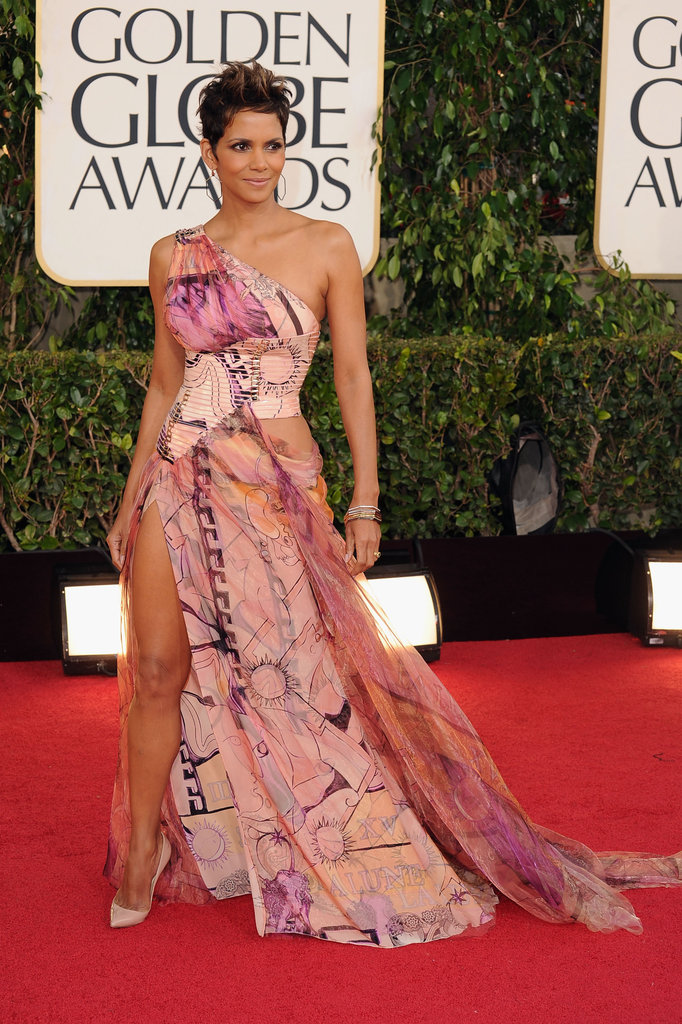Halle Berry in Versace Atelier at the 2013 Golden Globe Awards