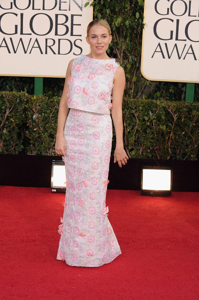 Sienna Miller in Erdem at the 2013 Golden Globe Awards
