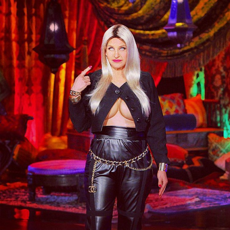 Ellen DeGeneres shared a photo of her Nicki Minaj getup.<br /><br /> Source: Instagram user theellenshow<br /><br />