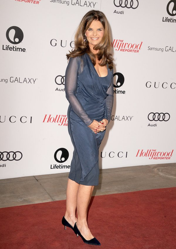 Maria Shriver walked the red carpet before heading inside ...