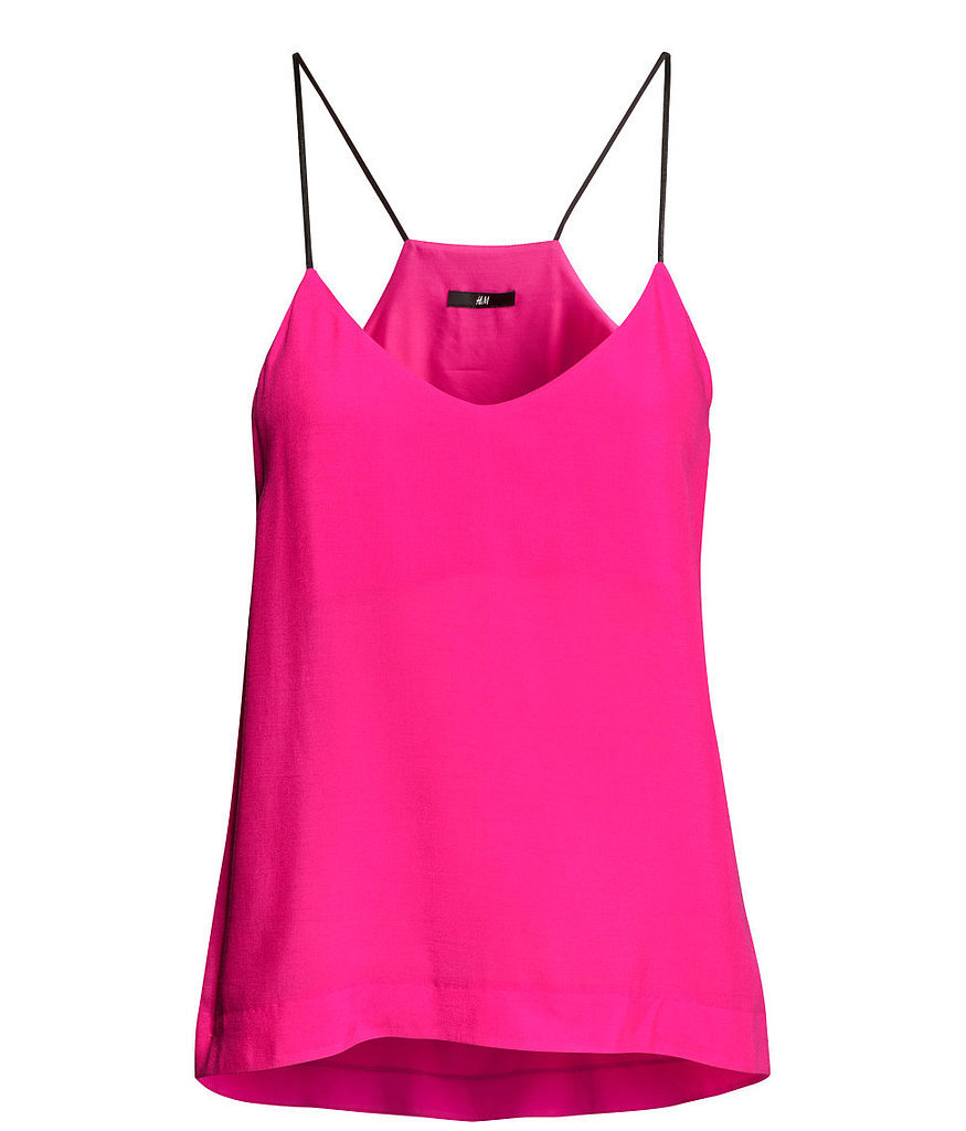H&M hot pink skinny-strap tank top ($18)<br />