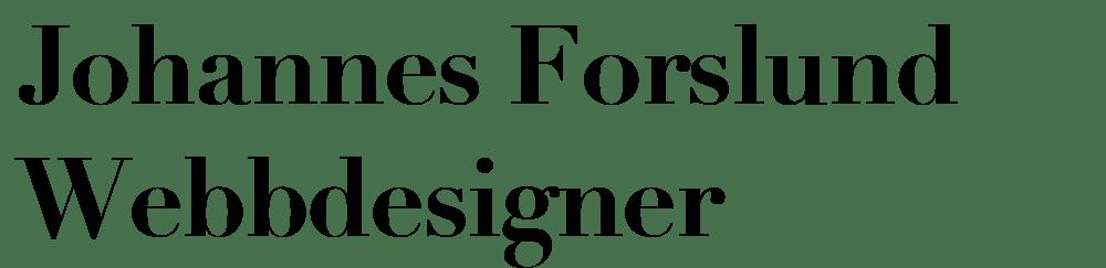 Johannes Forslund Webbdesigner
