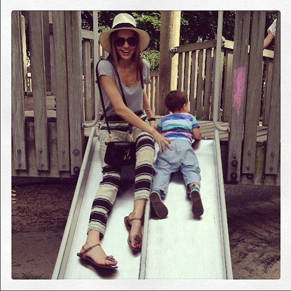 Miranda Kerr spent some time with her son, Flynn Bloom ...