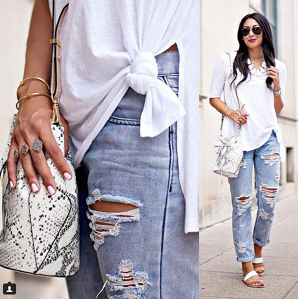 Layered With Chunky Jewelry and Ripped Jeans
