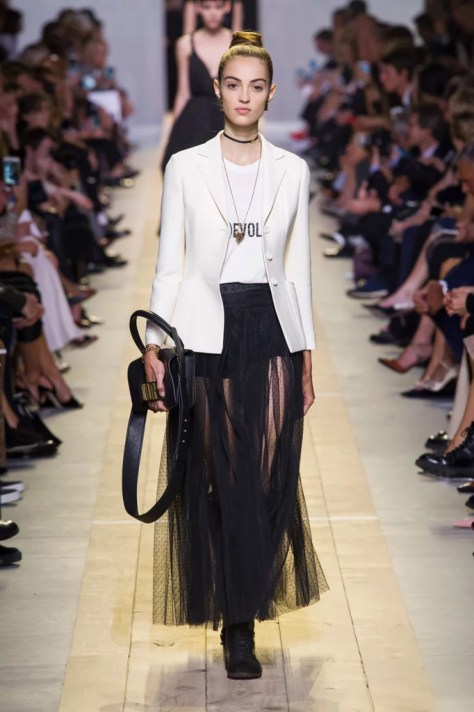 The Dior Spring 2017 collection was debuted on Sept. 30 at Paris Fashion Week.