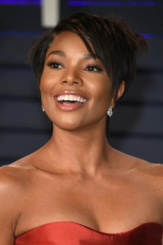 Gabrielle Unions Short Hair 2019 Vanity Fair Oscars Party