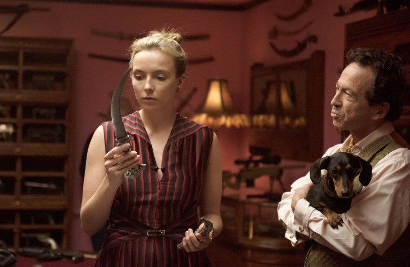KILLING EVE, from left: Jodie Comer, Andy Secombe, 'Smell Ya Later', (Season 2, ep. 205, aired May 5, 2019). photo: Parisa Taghizadeh / BBC-America / Courtesy: Everett Collection