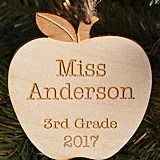 Special Teacher Personalized Wood Ornament