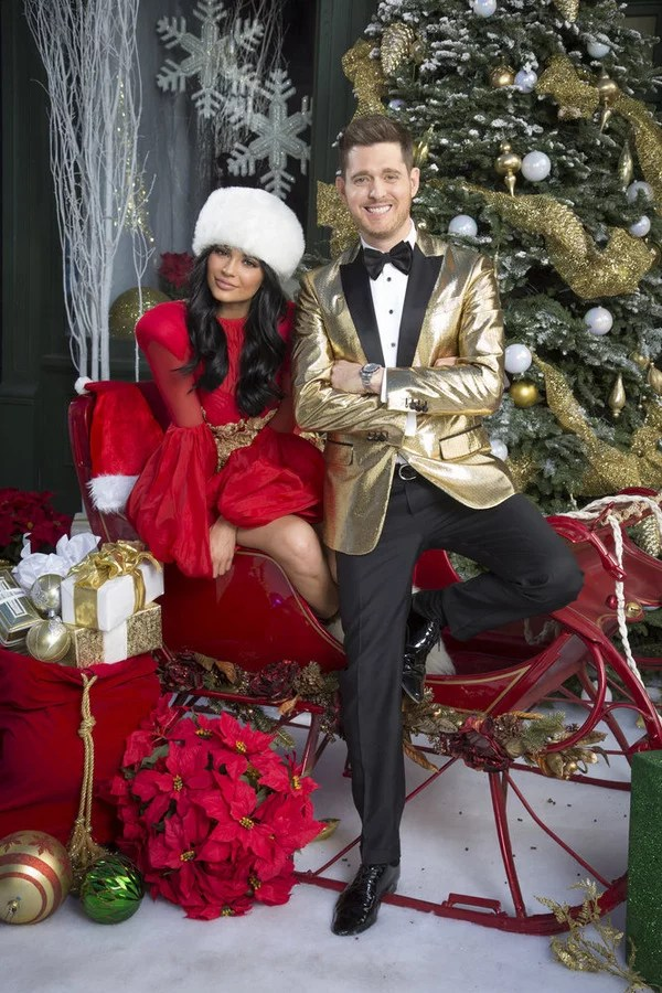Michael Buble Christmas Photo With Kylie Jenner POPSUGAR