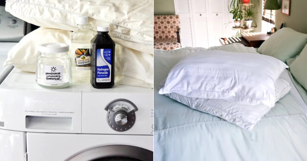 Dealing With Old Pillows? Here's How to Make Them Look Brand New