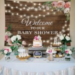 Rustic Floral Wooden Backdrop Best Baby Shower Decorations