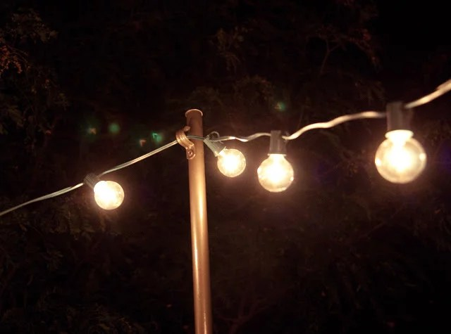 DIY Outdoor String Lights | POPSUGAR Home Photo 12 on Backyard String Lights Diy  id=78132