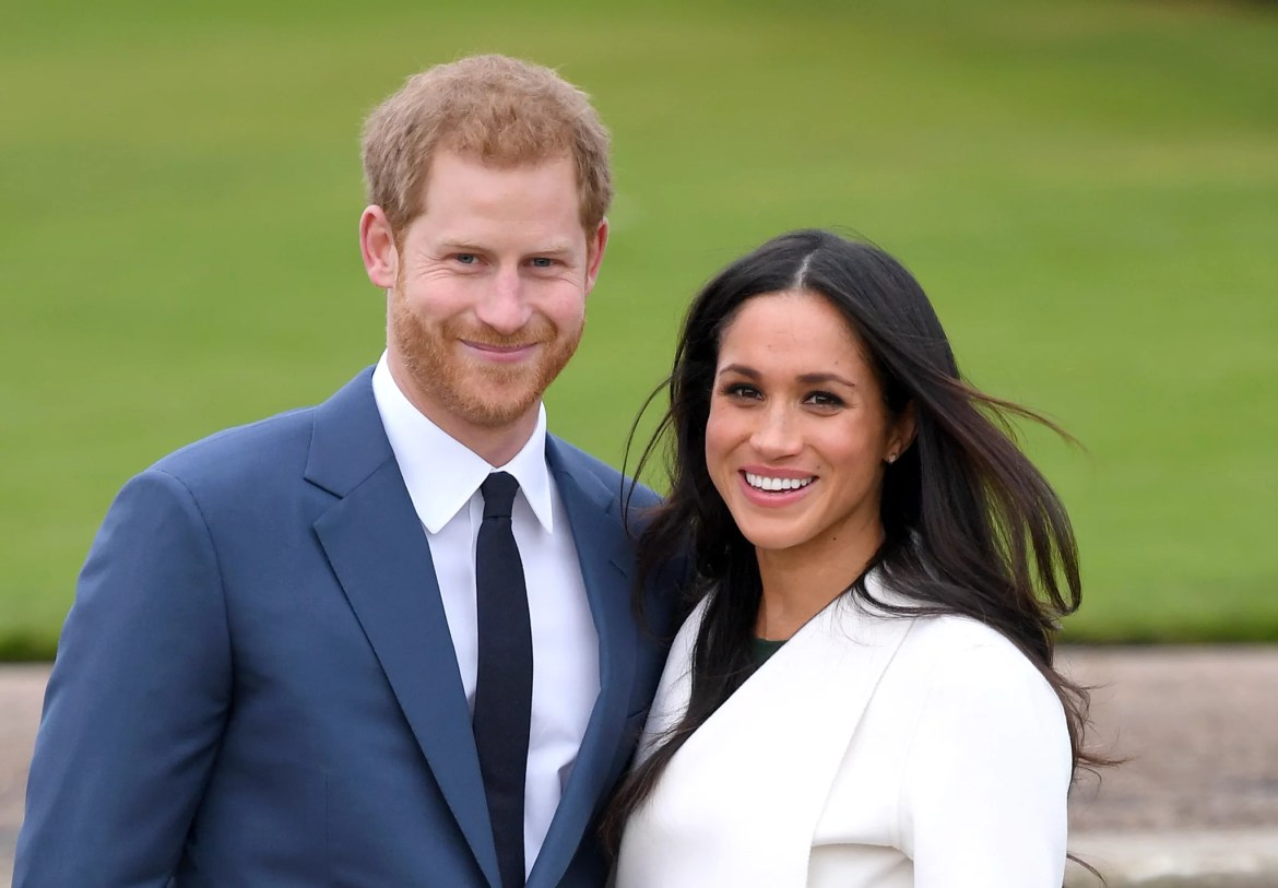 LONDON, ENGLAND - NOVEMBER 27:  Prince Harry and Meghan Markle attend an official photocall to announce their engagement at The Sunken Gardens at Kensington Palace on November 27, 2017 in London, England.  Prince Harry and Meghan Markle have been a couple officially since November 2016 and are due to marry in Spring 2018.  (Photo by Karwai Tang/WireImage)