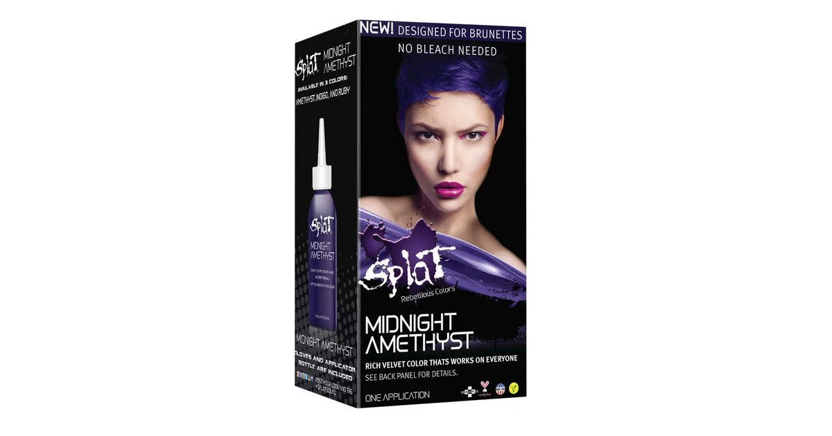 Splat Midnight Hair Color In Amethyst 9 Can Brunettes