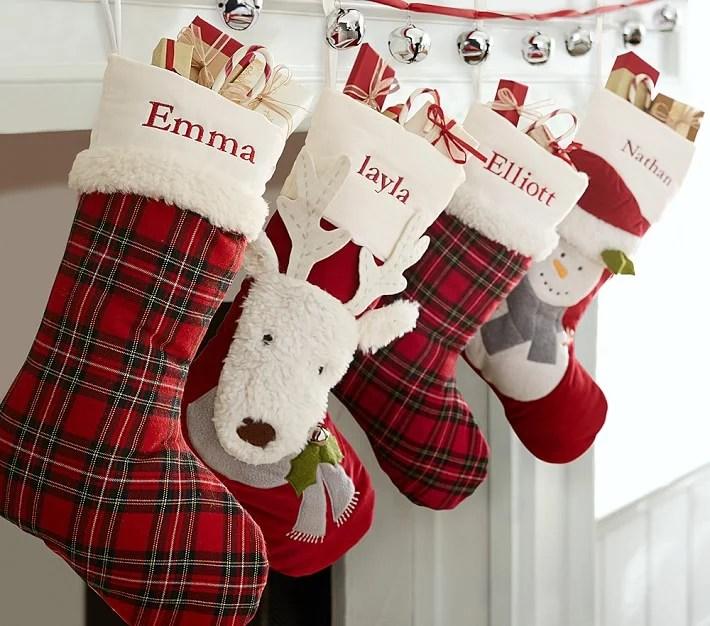 Luxe Velvet Stocking Collection Family Christmas