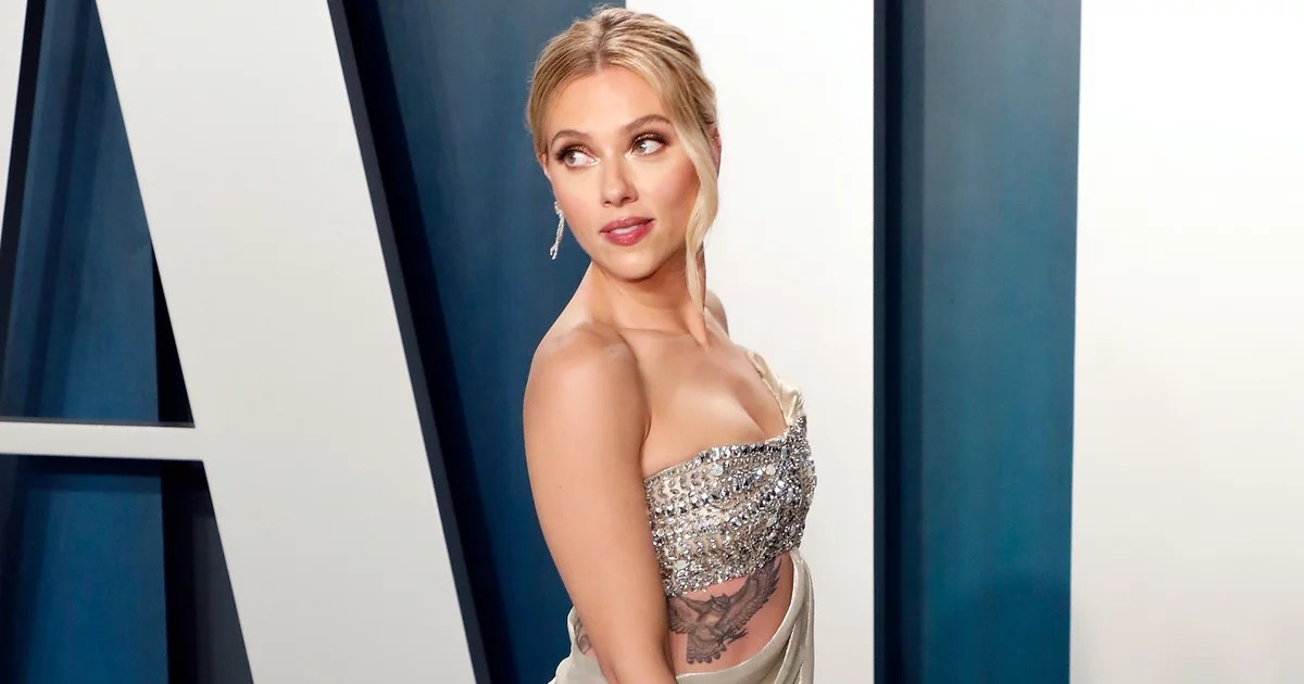 Scarlett Johansson Put All Her Tattoos on Display in Her Cutout Oscars Afterparty Dress