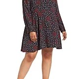Halogen Sleeve Inset Floral Dress