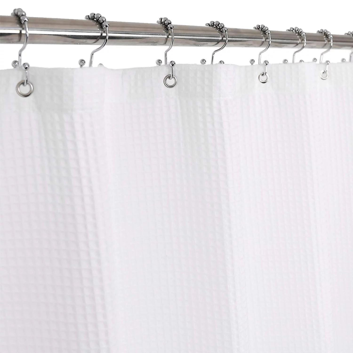Barossa Design Cotton Shower Curtain Honeycomb Waffle Weave