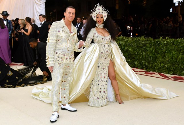 Image result for cardi b met gala outfit