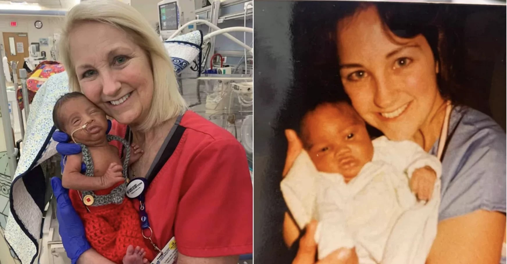 It's a Small World: A Father and Son Were Treated by the Same NICU Nurse 33 Years Aside!