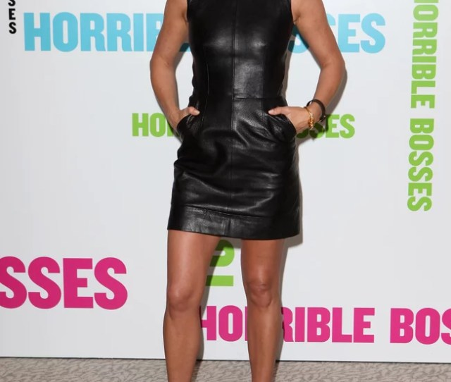 Jennifer Aniston Sported Numerous Sexy Styles While Promoting Horrible Bosses And The Leather Celine Mini