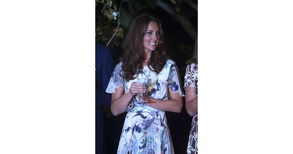 Kate Middleton Wore A Floral Printed Dress To Cheers With
