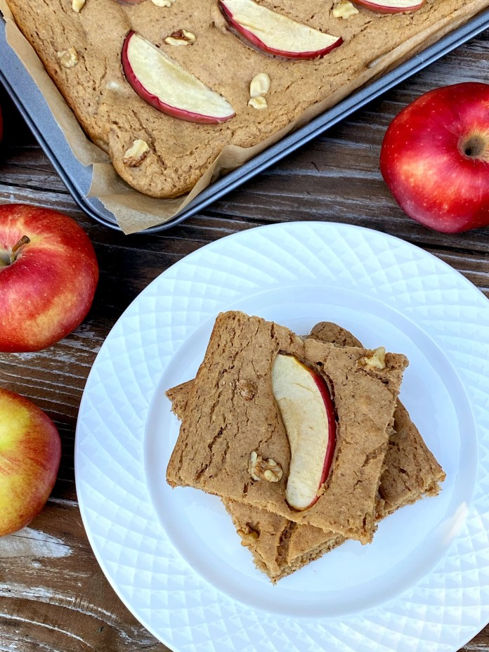 Vegan Apple Cinnamon Sheet Pan Protein Pancakes