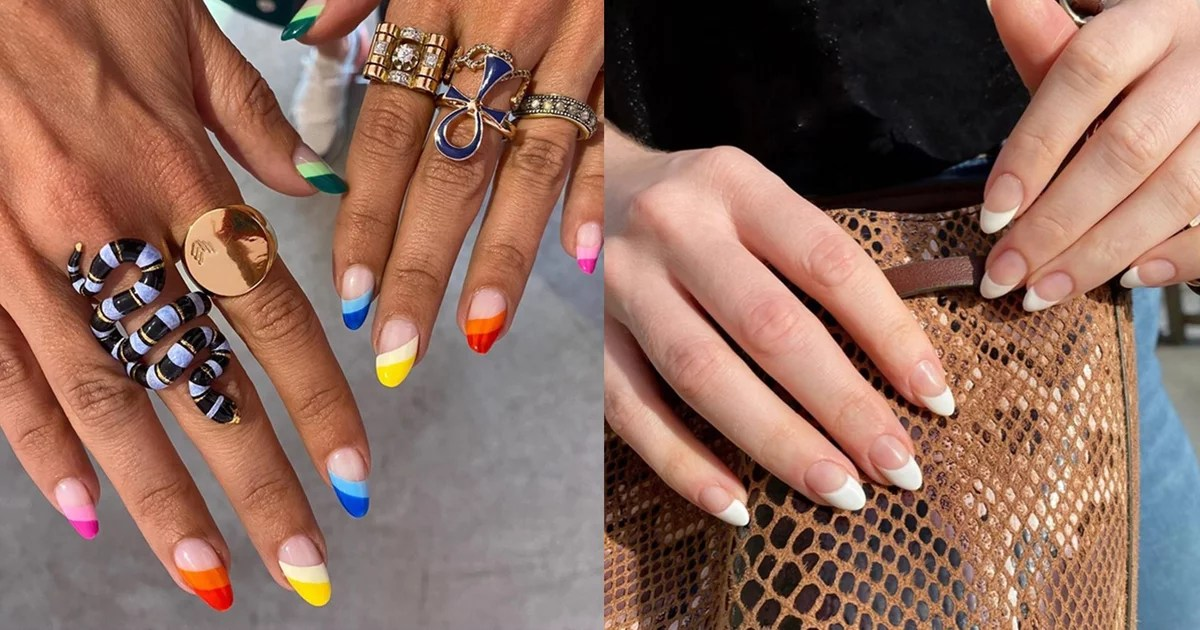 This Slanted French Manicure Is Not Only Cool, It Makes Your Nails Look Longer, Too