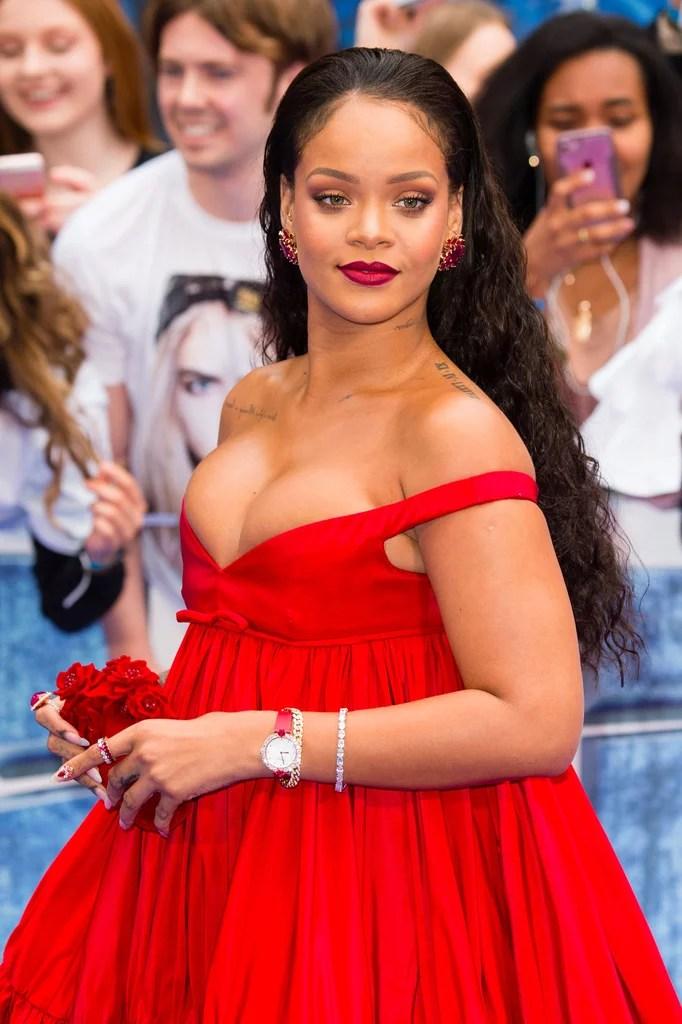 Rihanna Blue Hair August 2017 POPSUGAR Beauty Australia