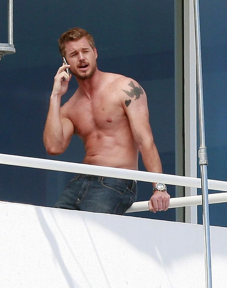 Photos Of Shirtless Eric Dane Filming Valentines Day In