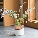Lemongrass Marbled Glass Vase