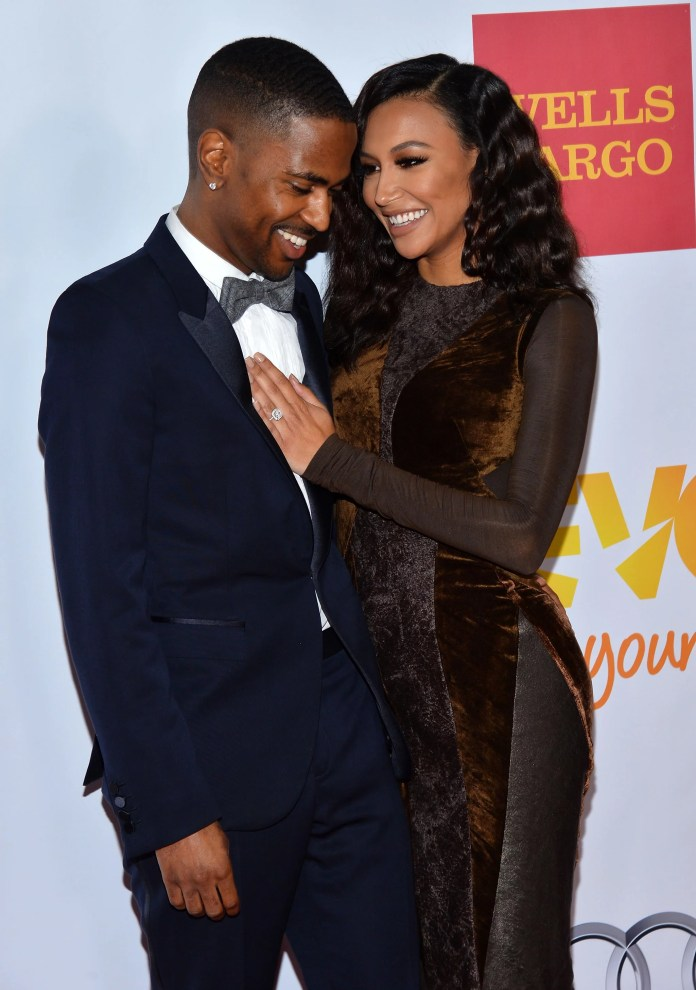 HOLLYWOOD, CA - DECEMBER 08:  Hip hop artist Big Sean(L) and actress Naya Rivera arrive at the TrevorLIVE Los Angeles Benefit celebrating The Trevor Project's 15th anniversary at the Hollywood Palladium on December 8, 2013 in Hollywood, California.  (Photo by Amanda Edwards/WireImage)