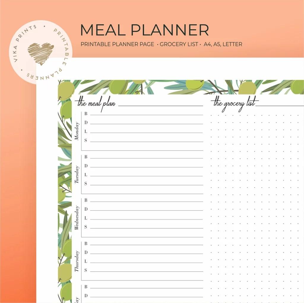 Weekly Meal Planner Printable 3