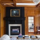 Paint a Wood Fireplace