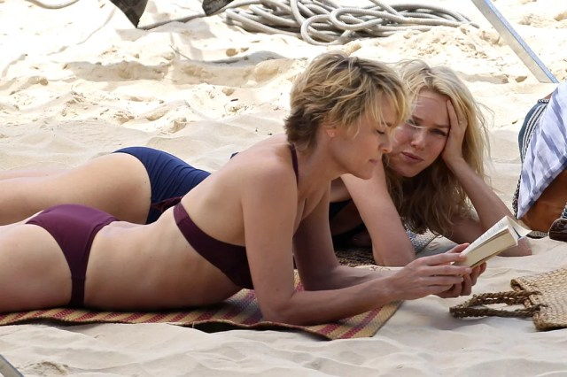 Naomi Watts And Robin Wright Lounged Atop The Sand On The Set Of The Grandmothers In