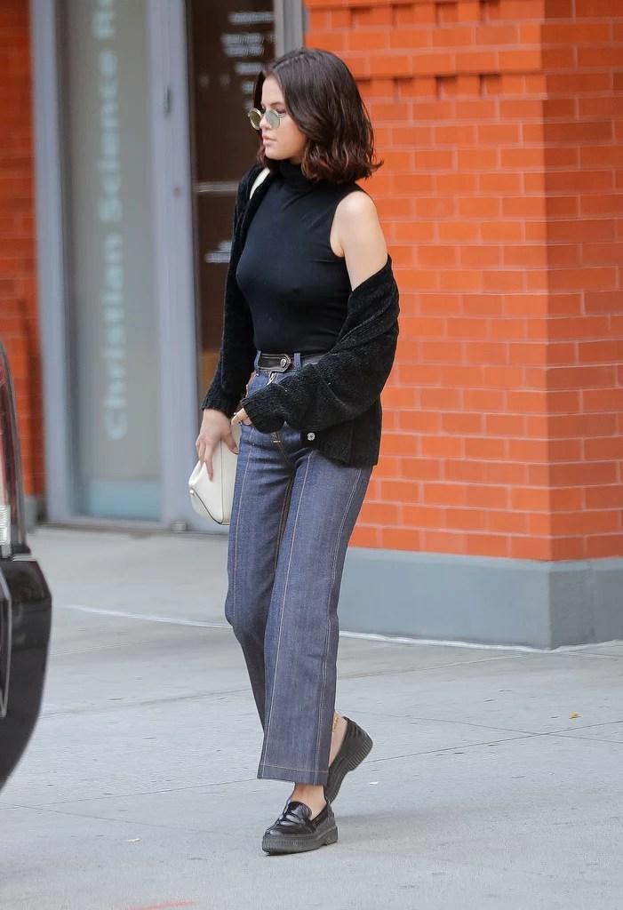 October In New York City Selena Gomez Best Street Style